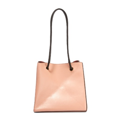 Cube Small Leather Shoulder Bag