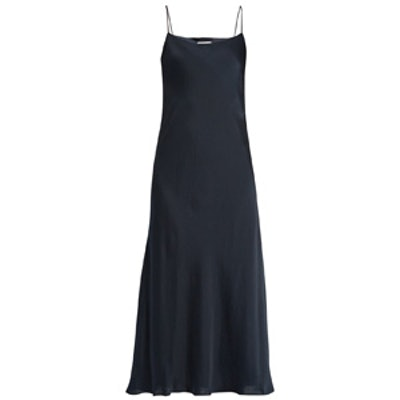Bias-Cut Satin Slip Dress