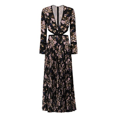 Josefa Cut Out Pleated Print Gown
