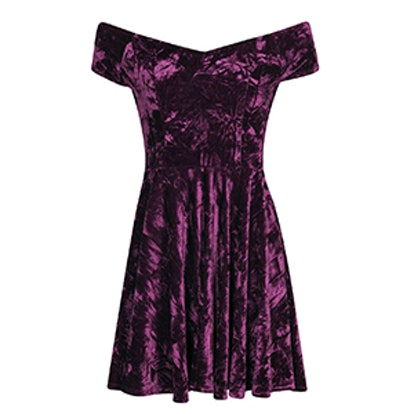 Niami Velvet Skater Dress