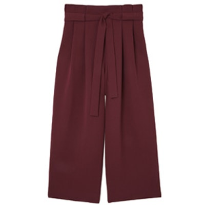 Wide Waist Pleated Trousers