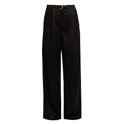 Lyle Wide-Leg Satin Trousers