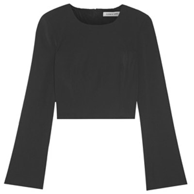 Leo Cropped Crepe Top