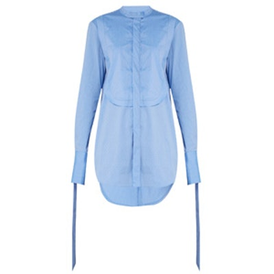 Melodrama Ruched Cotton Shirt
