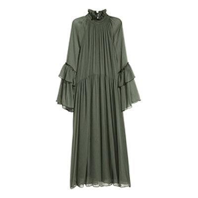 Crinkled Ruffled Dress