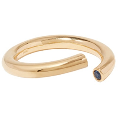 Pipe Gold-Plated Crystal Ring