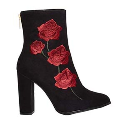 Rosa Embroidered Suede Boot
