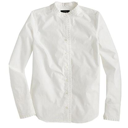 Ruffled Button-up Shirt