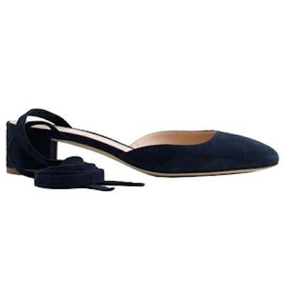 Ankle-Wrap Heels in Suede