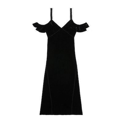 Kinsley Lace-Up Velvet Dress