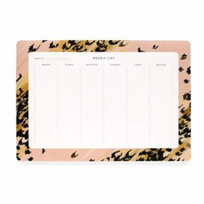 Leopard Weekly Desk Planner