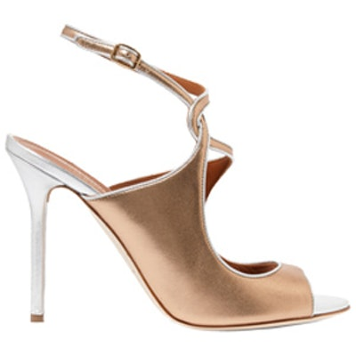 Della Metallic Leather Sandals