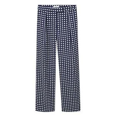 Check Palazzo Trousers