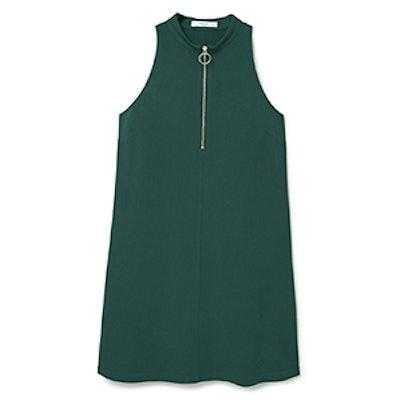 Zipped Neckline Dress