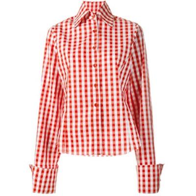 Oversized Sleeve Gingham Shirt