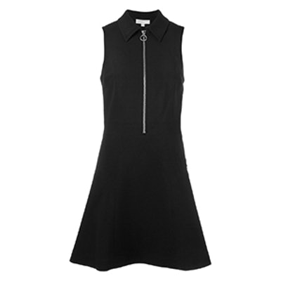Front Zip Flared Dress