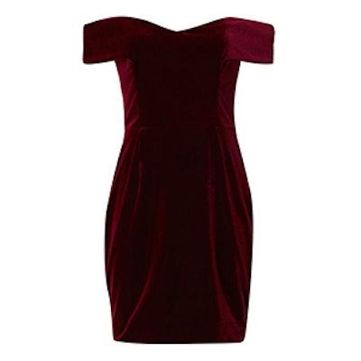 Off The Shoulder Velvet Dress