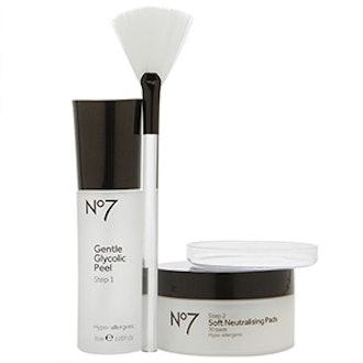 No7 Advanced Renewal Anti-Aging Glycolic Peel Kit