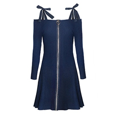 Beverly Shoulder Tie Ribbed Dress