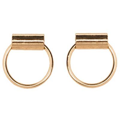 Gold Bar Hoops