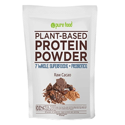 Plant Protein Powder with Probiotics: Raw Cacao