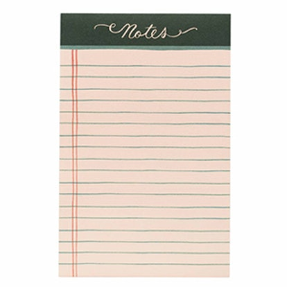 Rose Lined Tear-Off Notepad