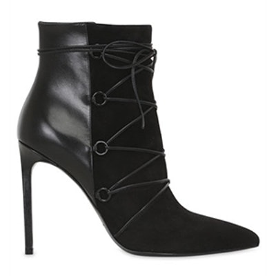 Paris Suede & Leather Ankle Boots