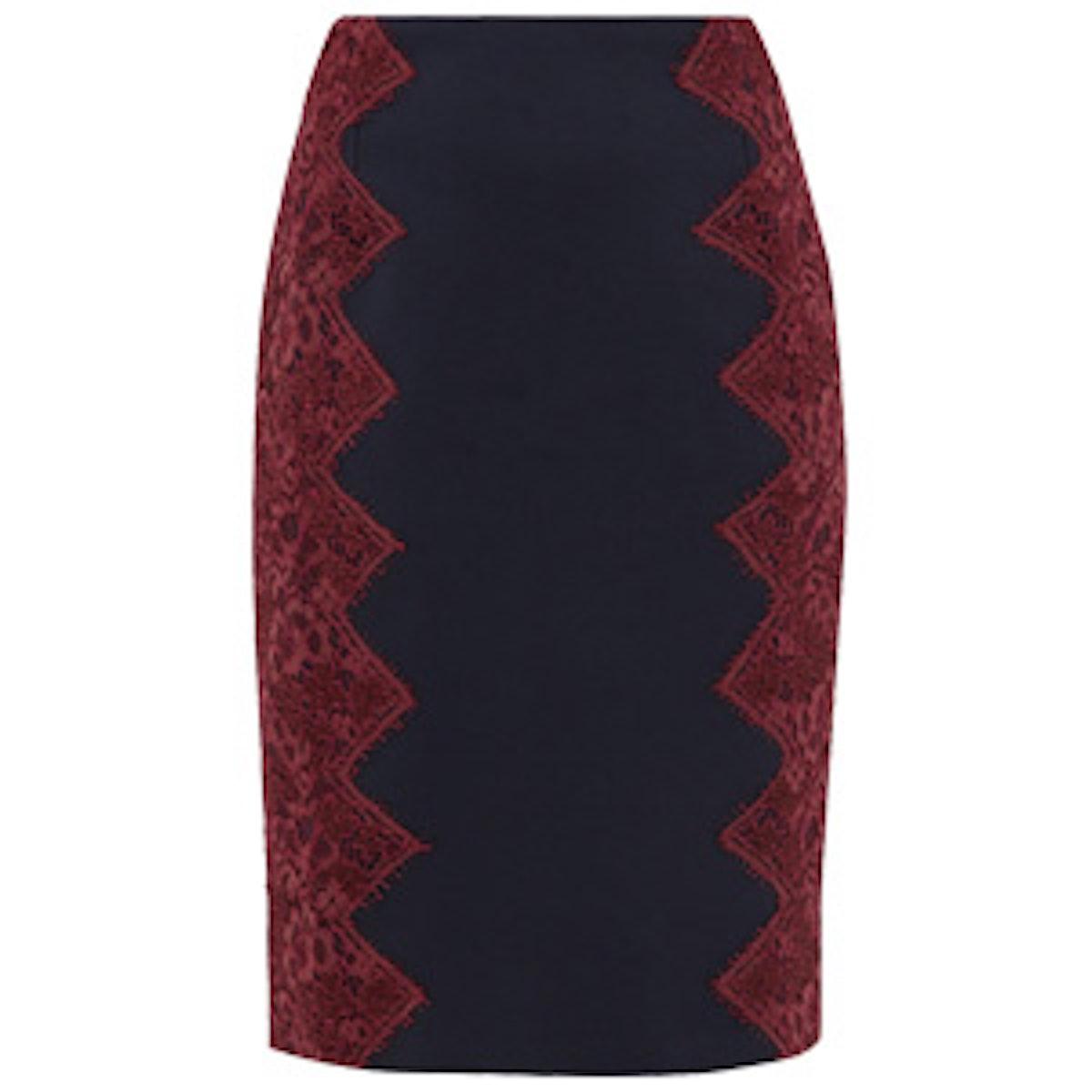 Scallop Lace Pencil Skirt
