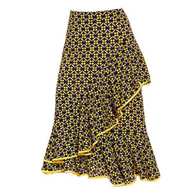 Florals Ruffle Asymmetrical Skirt