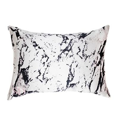 2 Pack White Marble Silk Pillowcases