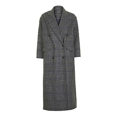 Check Slouch Coat