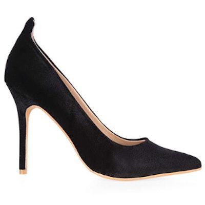 Velvet Court Shoes