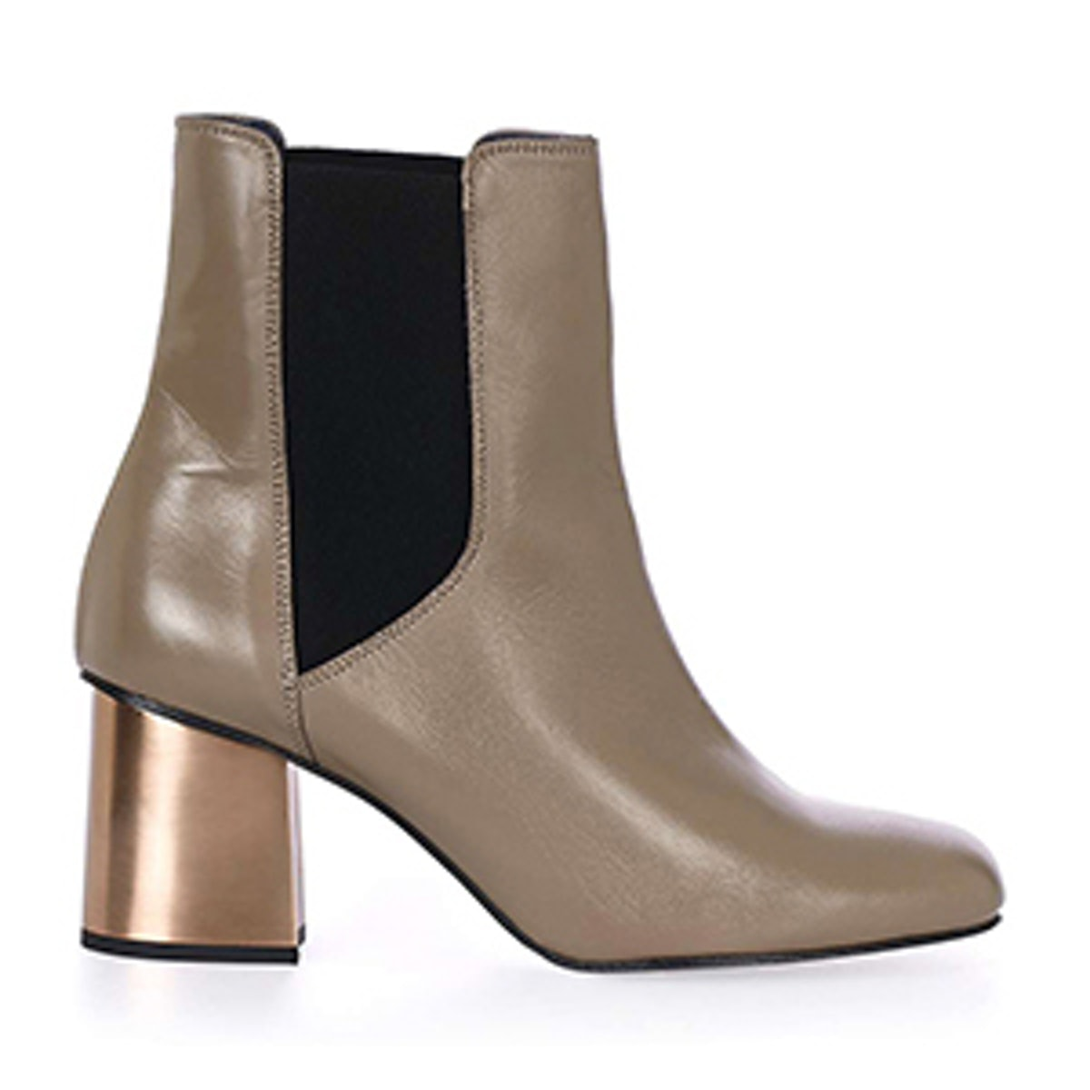 Mayfair Chrome Heel Boots