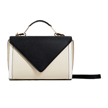 Crossbody Bag with Contrast Flap
