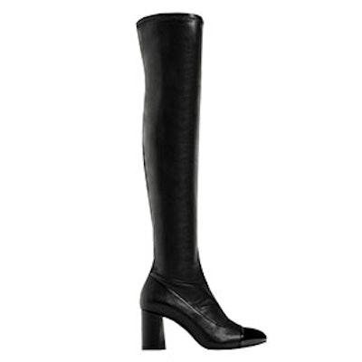 Over-The-Knee High Heel Cap Toe Boots