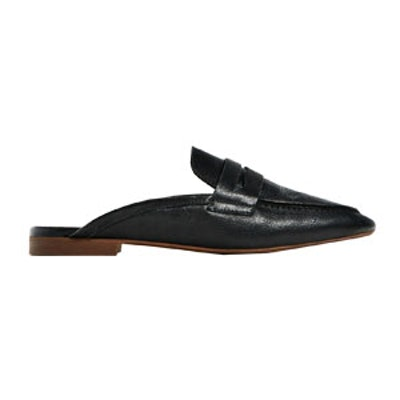 Leather Mule Loafers