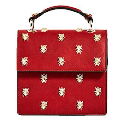 Metallic Detail Crossbody Bag