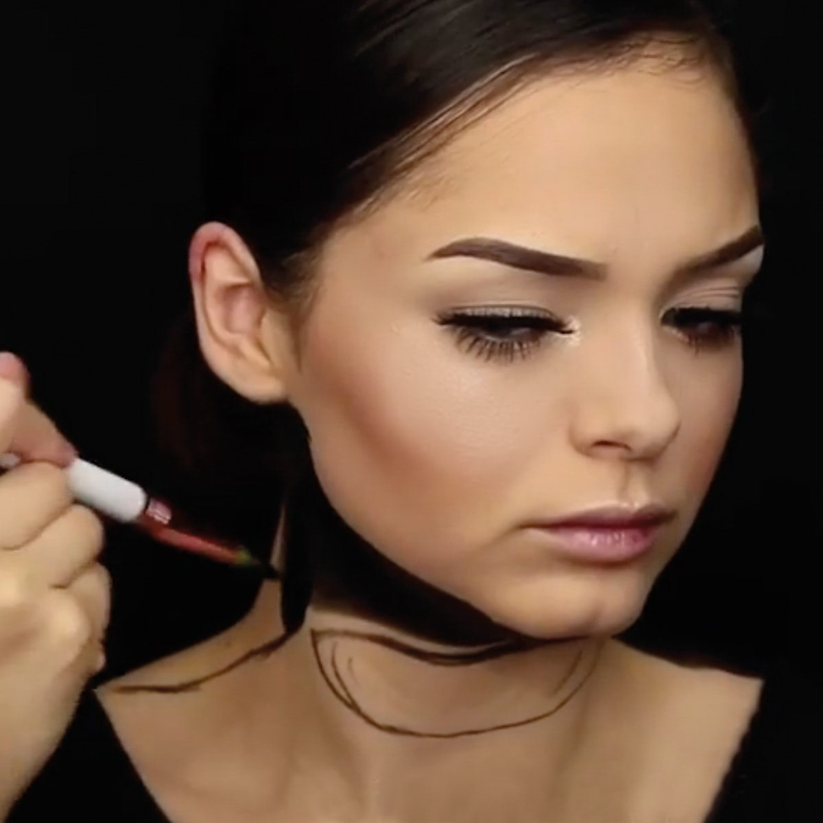 This Optical Illusion Makeup Look Is Terrifying