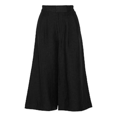 Taiyana Cropped Woven Wide-Leg Pants
