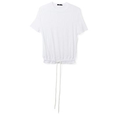 Drawstring Rib T.Shirt
