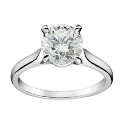 Solitaire 1895 Brilliant-Cut Diamond And Platinum Engagement Ring