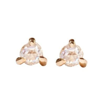 Sleeping Beauty 14-karat Gold Diamond Earrings