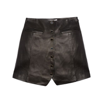 Ciara Leather Mini Skirt
