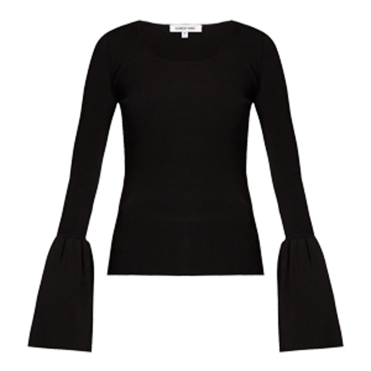 Willow Bell-Cuff Ribbed-Knit Top