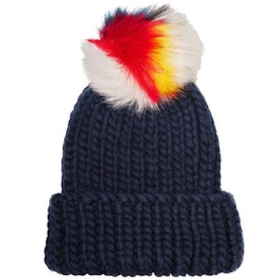 Rain Faux Fur-Trimmed Wool Beanie