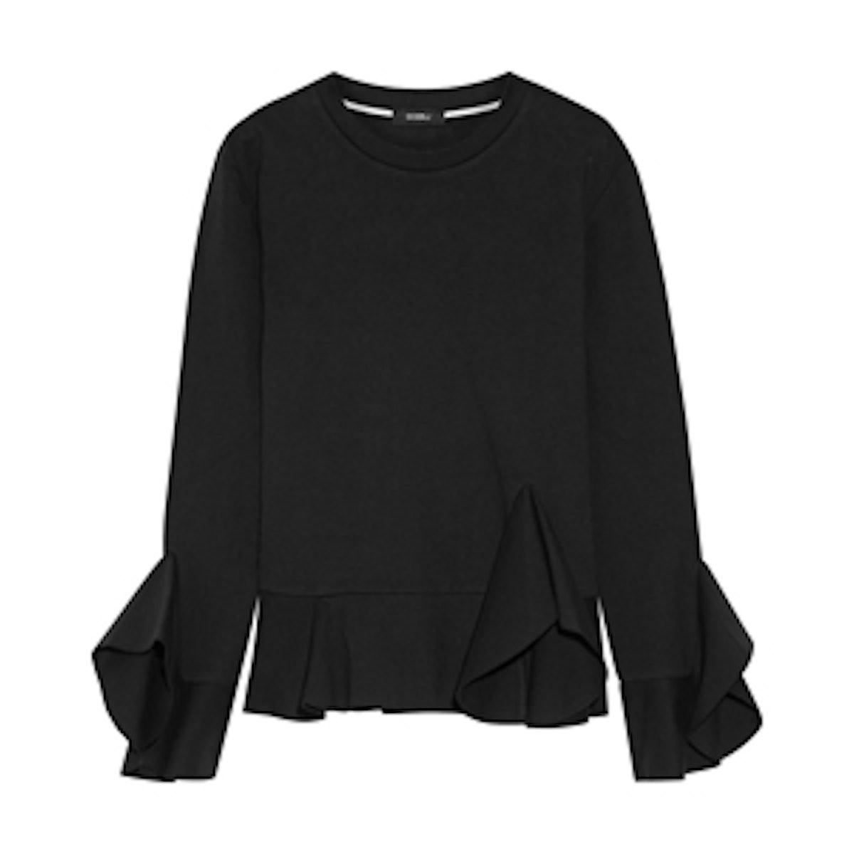 Ruffled Cotton-Jersey Top