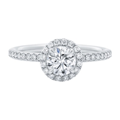 The One, Round Brilliant Diamond Micropavé Engagement Ring