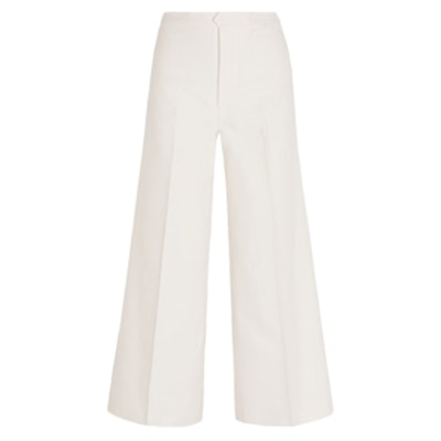 Steve Cropped Cotton And Linen-Blend Twill Wide-Leg Pants