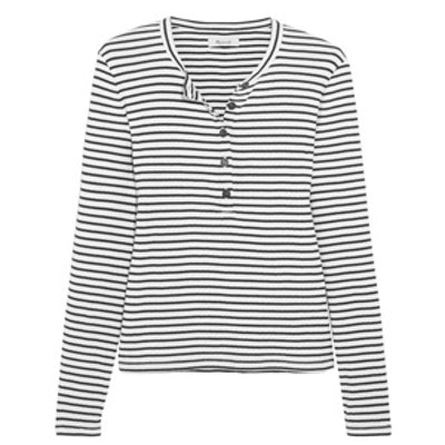 Mandy Striped Ribbed Cotton Top