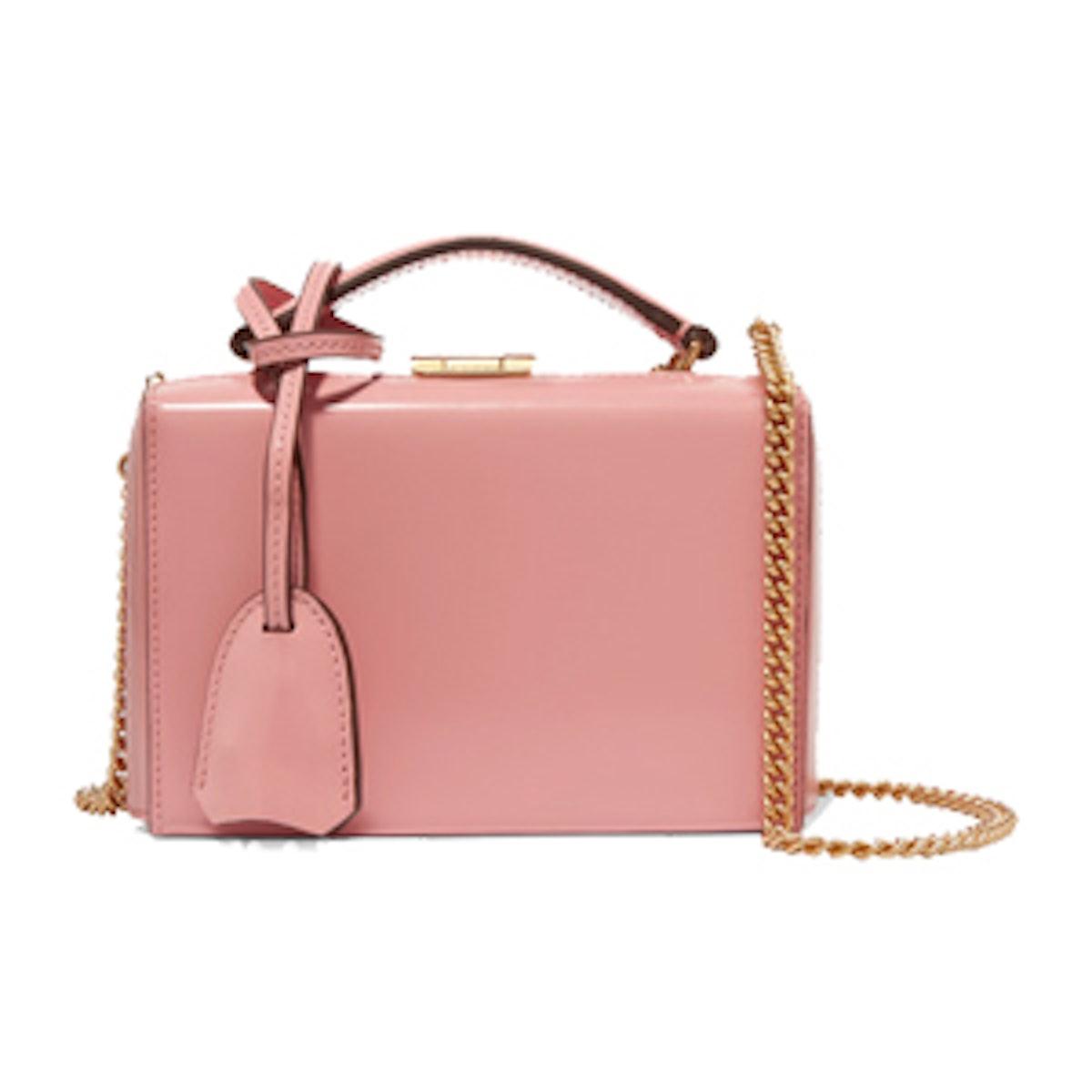 Grace Mini Glossed-Leather Shoulder Bag